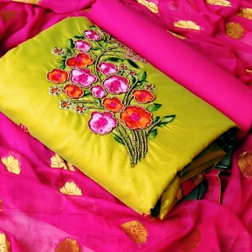 Silk Cotton work salwar